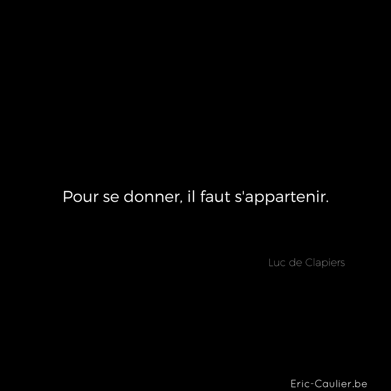 Citation Luc de Clapiers